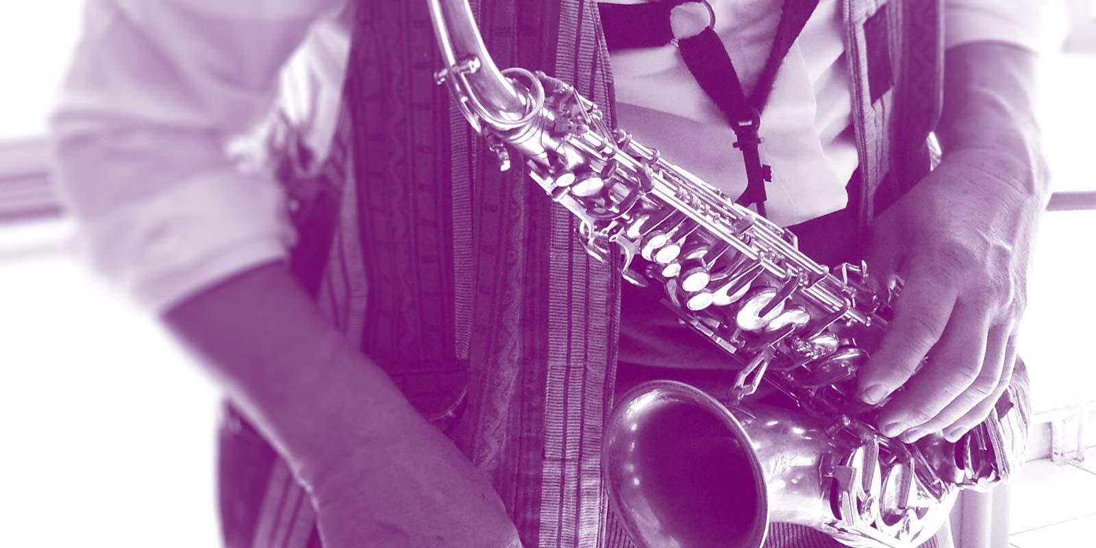 Animation saxophone